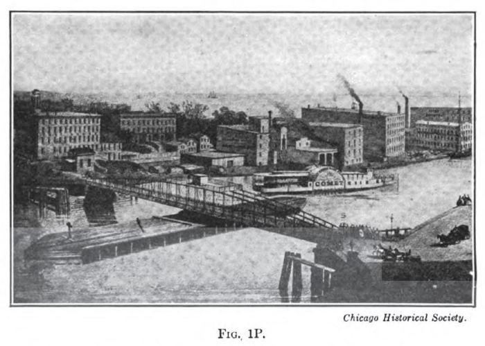 Rush Street Bridge, 1856, Hovey Moveable Bridges