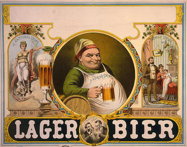 Lager Beer lithograph (Library of Congress, Public Domain)